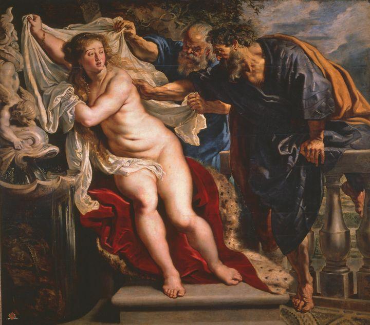 Peter Paul Rubens~Susana y los viejo - Old classic art