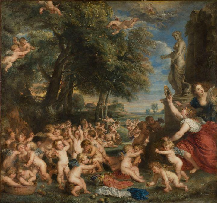Peter Paul Rubens~Worship of Venus - Old classic art