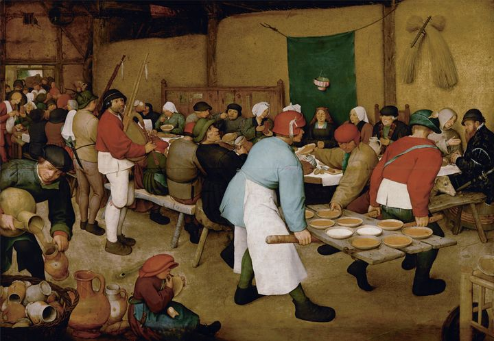 Pieter Bruegel the Elder~Peasant Wed - Old classic art