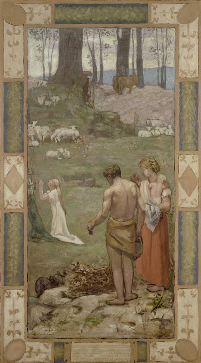Pierre Puvis de Chavannes~Saint Gene - Old classic art