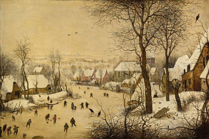 Pieter Bruegel the Elder~Winter Land - Old classic art
