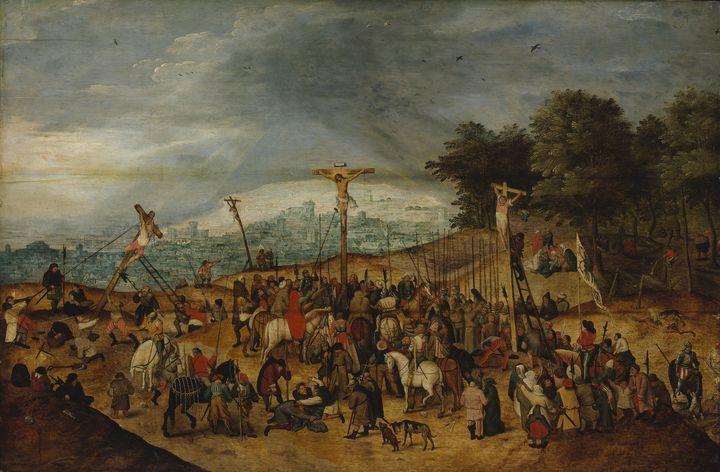 Pieter Brueghel II~The Crucifixion - Old classic art