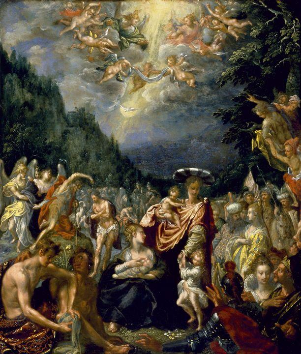 Pieter Isaacsz~Baptism of Christ - Old classic art