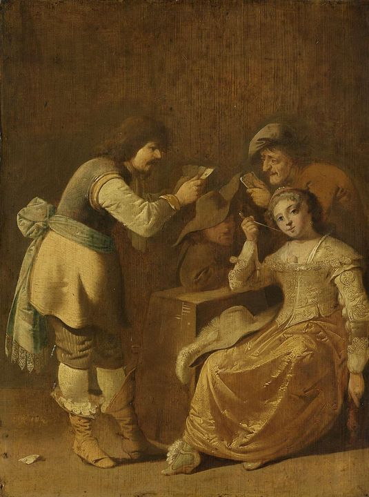 Pieter Jansz Quast~Card players with - Old classic art