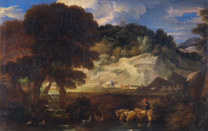 Pieter Mulier II~Landscape with Shep - Old classic art
