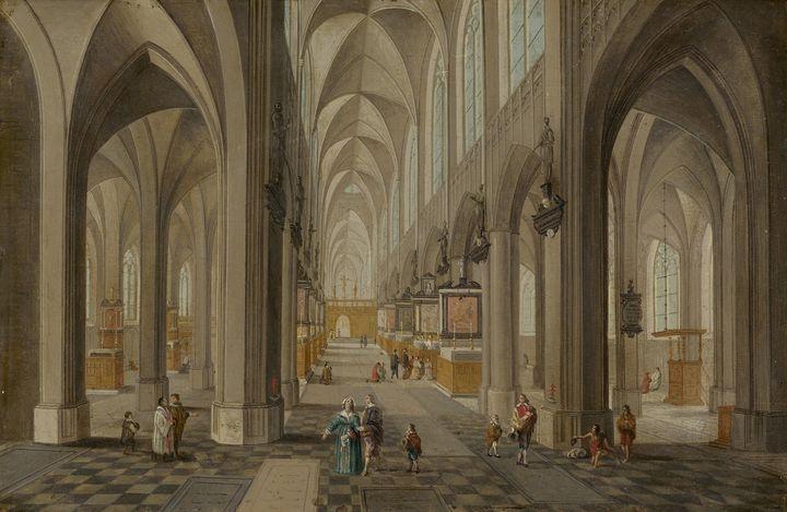 Pieter Neefs the Elder~Antwerp Cathe - Old classic art