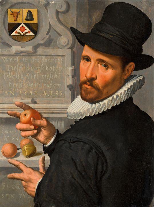 Pieter Pietersz the Elder~Portrait o - Old classic art