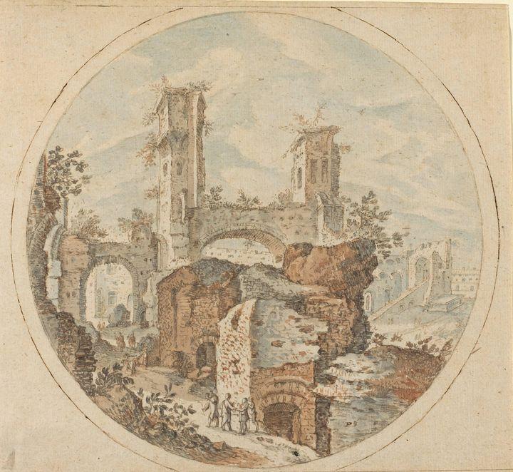 Pieter Stevens II~Travellers among R - Old classic art