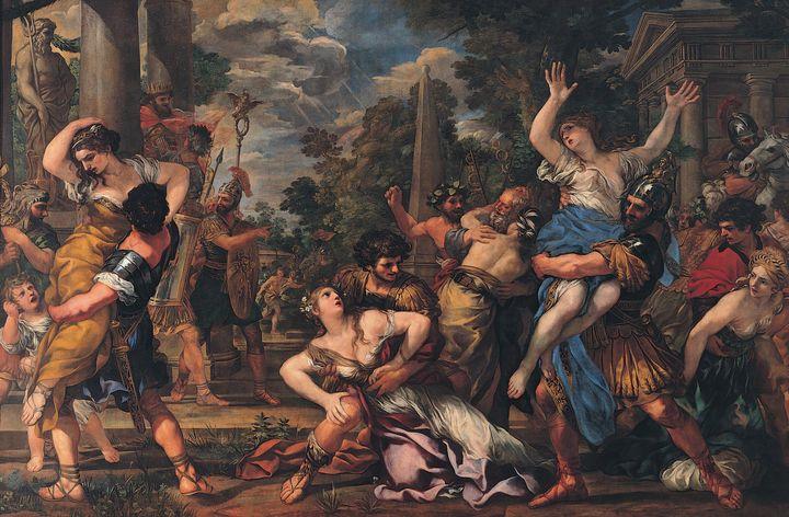 Pietro da Cortona~Rape of the Sabine - Old classic art