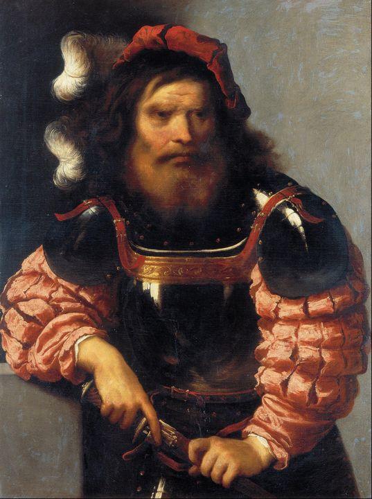 Pietro della Vecchia~Warrior in Armo - Old classic art