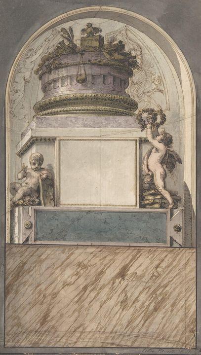 Pietro Fancelli~Design for a Monumen - Old classic art