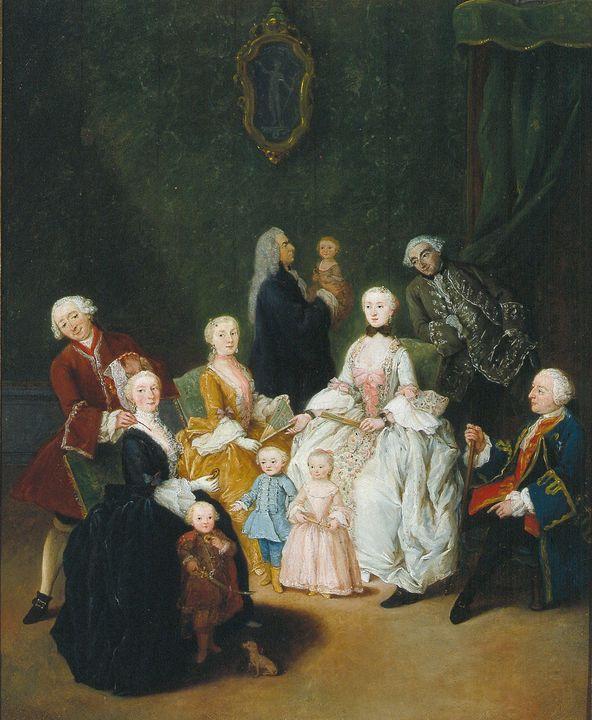 Pietro Longhi~Patrician family - Old classic art