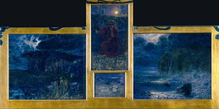 Plinio Nomellini~Symphony of the Moo - Old classic art