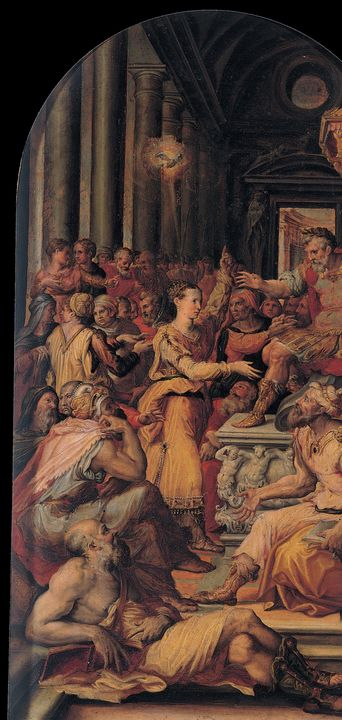 Prospero Fontana~The Dispute of Sain - Old classic art