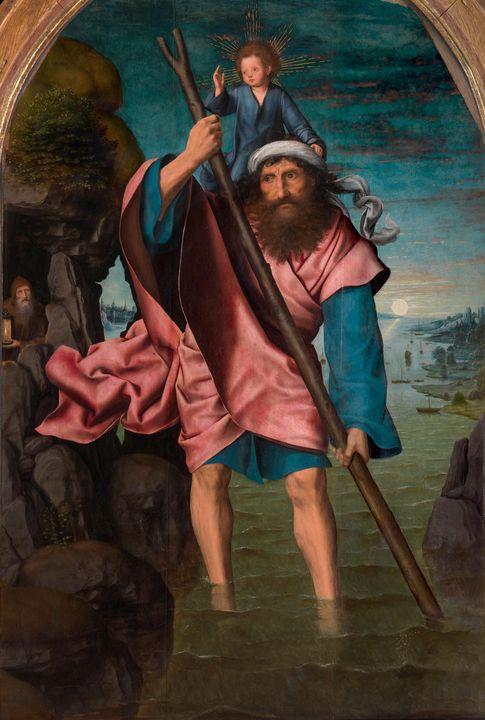 Quentin Matsys~Saint Christopher - Old classic art