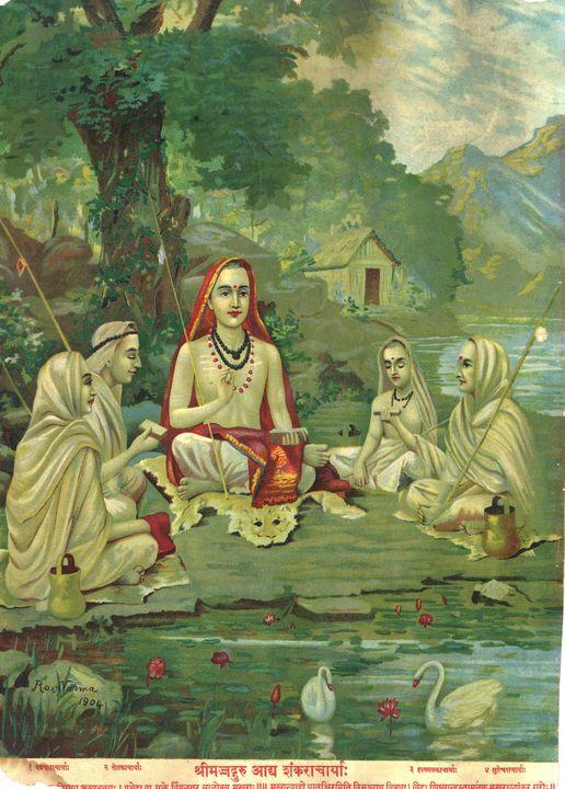 Raja Ravi Varma~Adi Shankaracharya - Old classic art