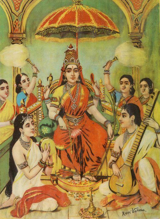 Raja Ravi Varma~Ambika - Old classic art