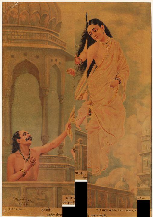 Raja Ravi Varma~Oorvashi - Old classic art