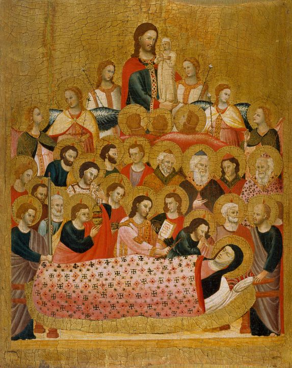 Master of the Cini Madonna~Dormition - Old classic art