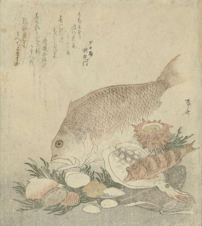 Ryūryūkyo Shinsai~Vissen en schelpen - Old classic art