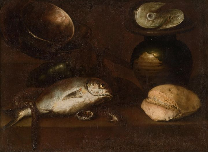 Mateo Cerezo~Still life with fishes - Old classic art