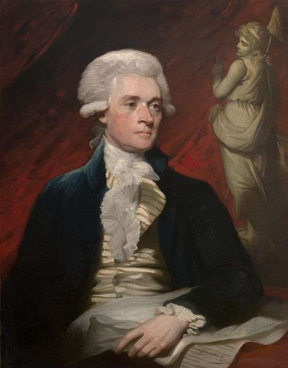 Mather Brown~Thomas Jefferson - Old classic art