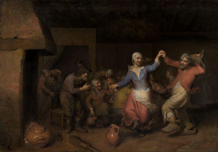 Matheus Berckmans~Dancing Peasants a - Old classic art