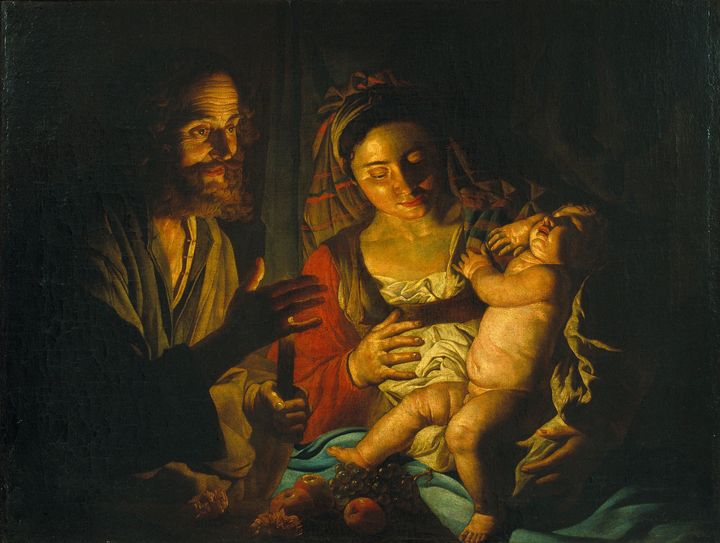 Matthias Stom~Holy Family - Old classic art