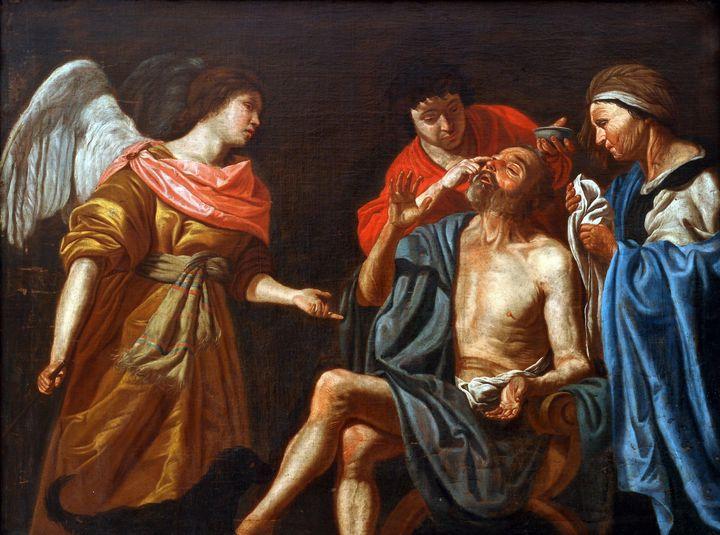 Matthias Stom~Uzdravenie slepeho Tob - Old classic art