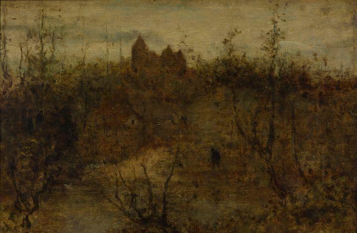 Matthijs Maris~The enchanted castle - Old classic art