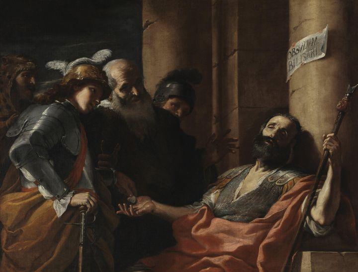 Mattia Preti~Belisarius Receiving Al - Old classic art