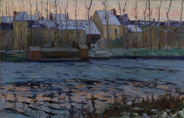 Maurice Cullen~Moret, Winter - Old classic art