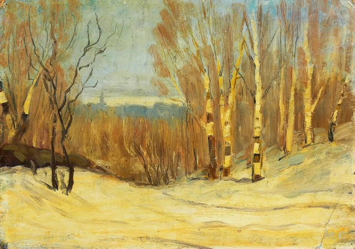 Maurice Cullen~Winter near Montreal - Old classic art