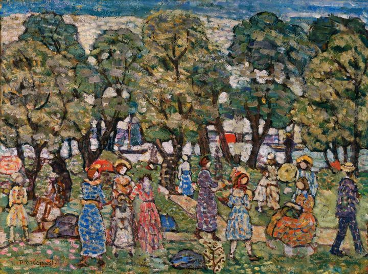 Maurice Predgast~Under the Trees - Old classic art