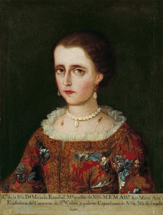 Mexico~Portrait of Dona Micaela Esqu - Old classic art