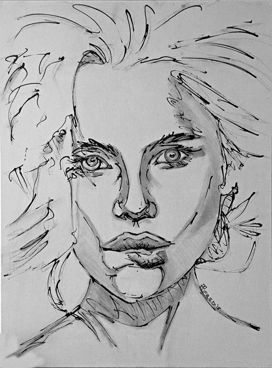 Biting Lip - Alema Art