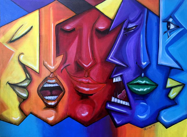 Many faces - Alema Art