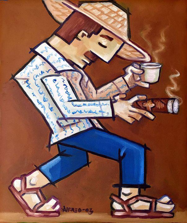 Square Man - Alema Art