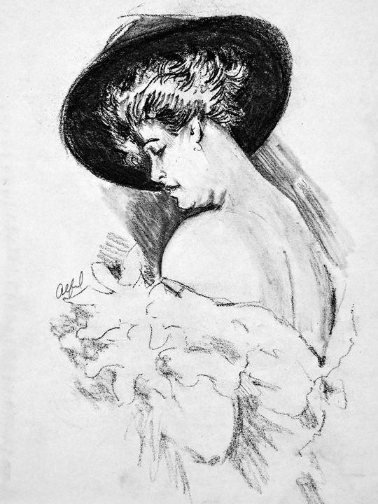 Madam Seeing beauty in her hands - Alema Art
