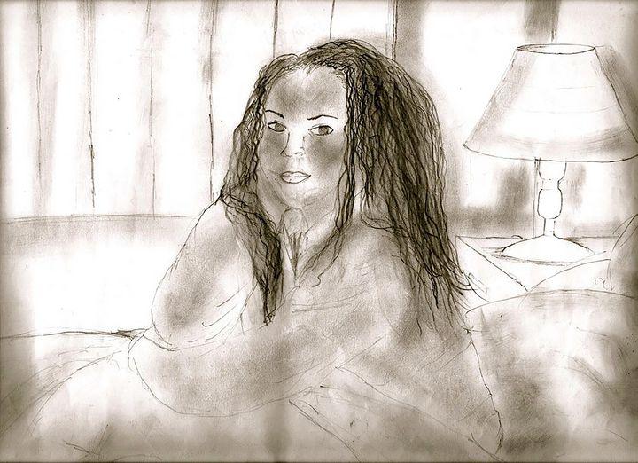 Sitting in Bed - toksdesign