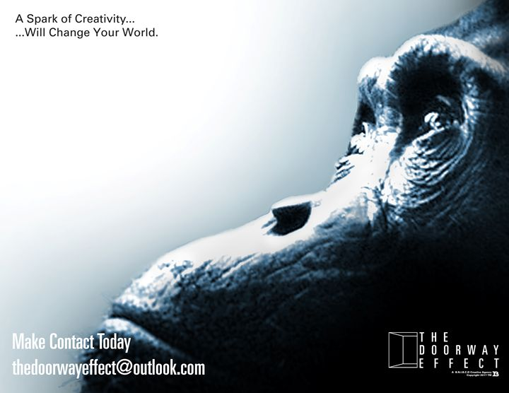 """Chimp Manifesto poster """"The Spark"""" - The Doorway Effect Apparel Company"""