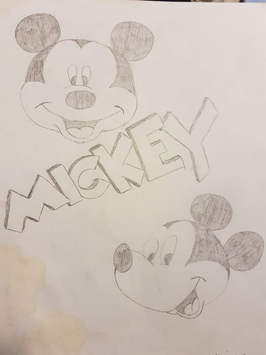 Mickey mouse - colby's drawings