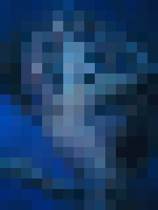 Black light mermaid portrait