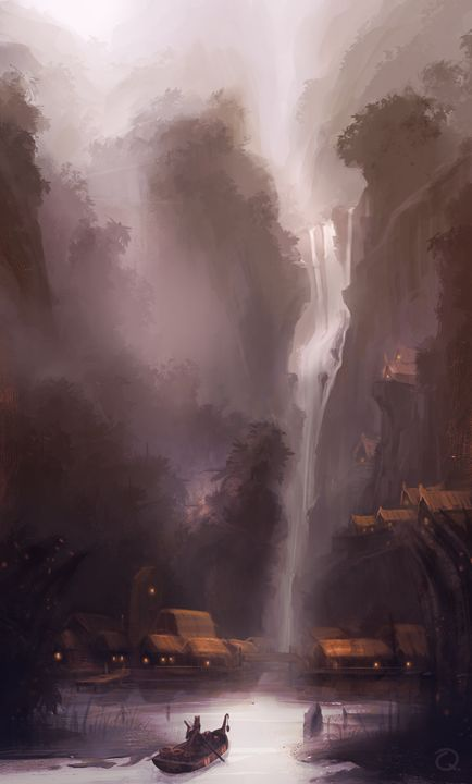 The Hidden Village - Paintings