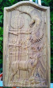 Wolf & Eagle Mantle Piece