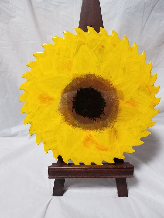 Resin sunflower blade - Toad's Artistry