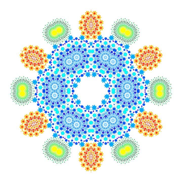 A kaleidoscope of dots - littlegreenshoots