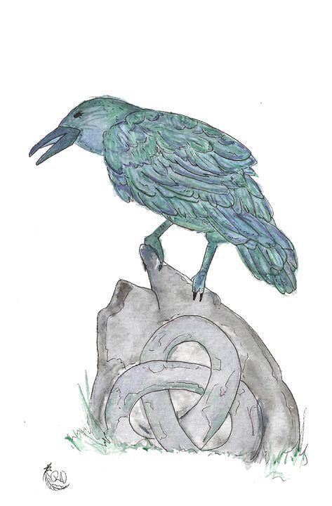 Celtic Raven - Rachel Newman