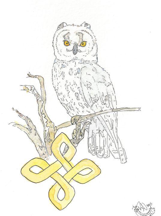 Celtic Owl - Rachel Newman