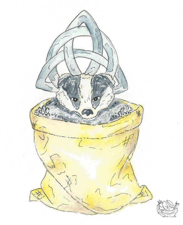 Badger In A Bag - Rachel Newman
